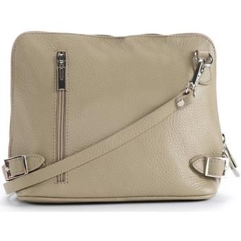 Sacs Femme Sacs Bandoulière Oh My Bag Sac à main bandoulière en cuir femme - Modèle Mia taupe clair TAUPE CLAIR