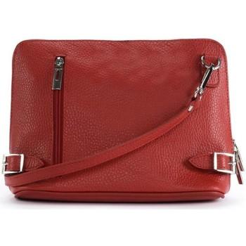 Sacs Femme Sacs Bandoulière Oh My Bag Sac à main bandoulière en cuir femme - Modèle Mia rouge clair ROUGE CLAIR