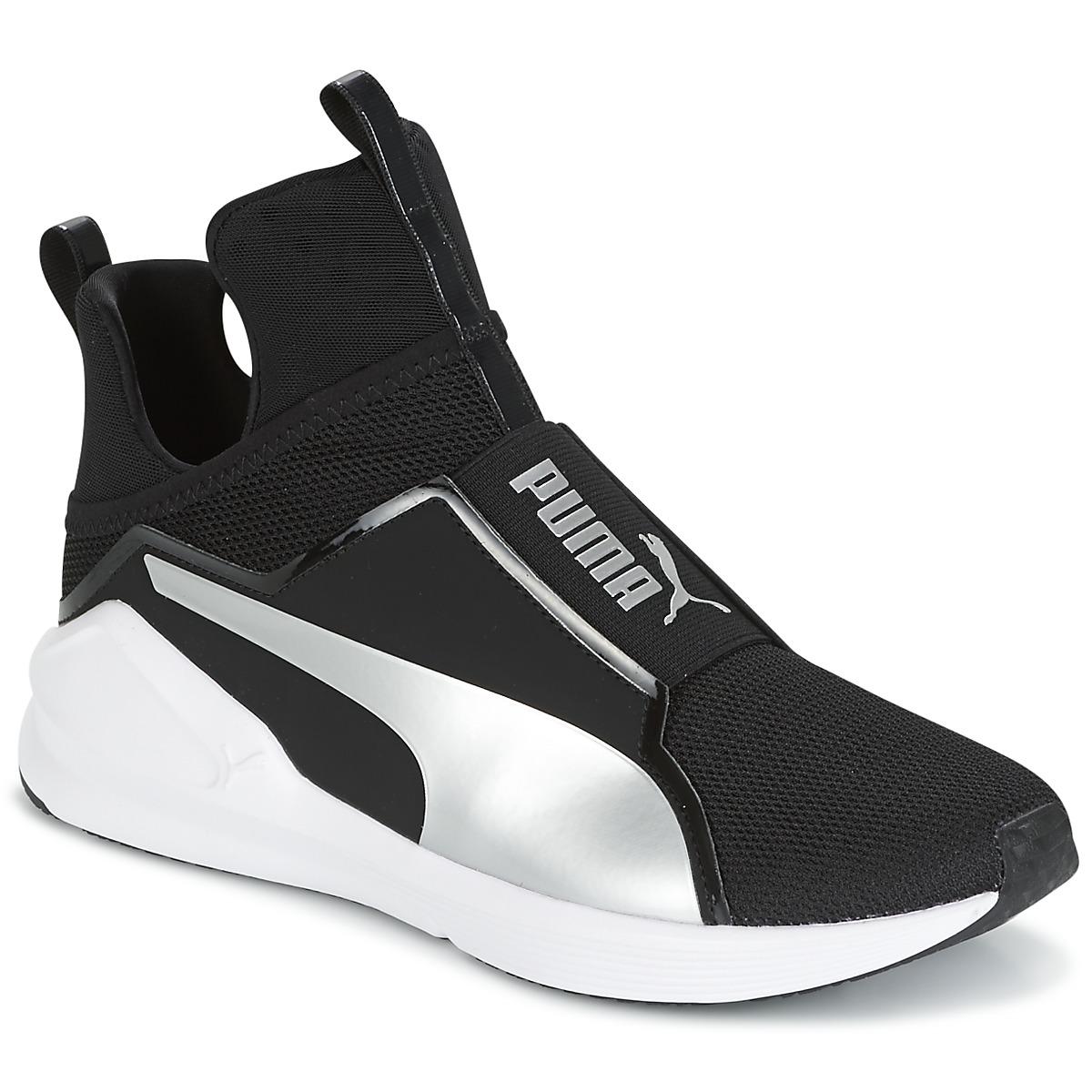 Puma FIERCE core Noir - Livraison Gratuite avec Spartoo.com ! - Chaussures  Basket montante Femme 60,16 €