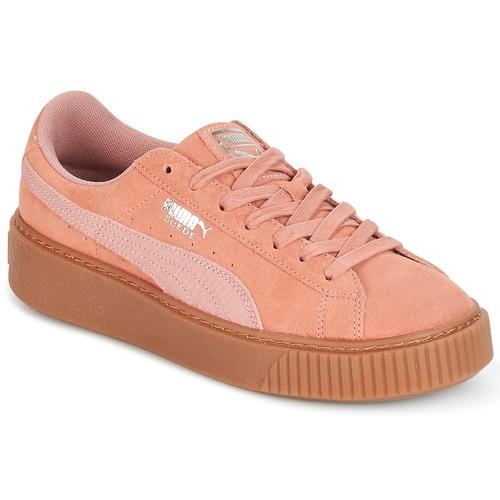 chaussures puma suede platform femme