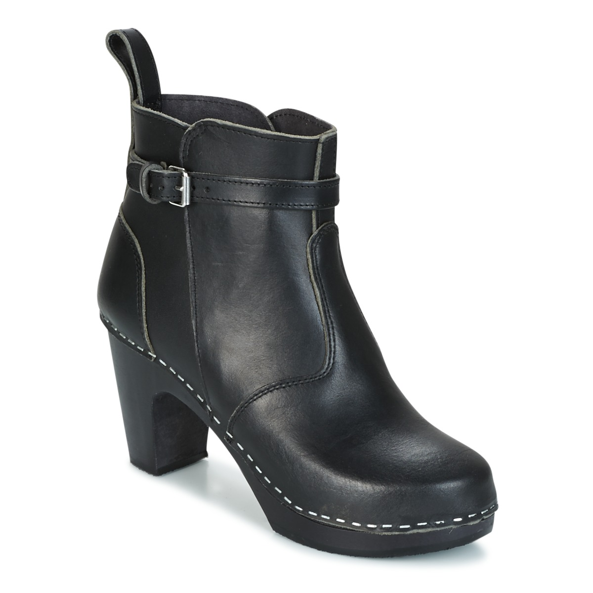 Swedish hasbeens HIGH HEELED JODHPUR Cognac - Livraison Gratuite avec  - Chaussures Bottine Femme