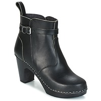 Chaussures Femme Bottines Swedish hasbeens HIGH HEELED JODHPUR noir