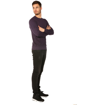 Vêtements Femme Sweats Jack & Jones Sweat HOMME - SPLASH SWEAT CREWNECK_NIGHTSHADE/SLIM Violet