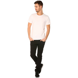 Vêtements Femme T-shirts manches courtes Jack & Jones T-shirt HOMME - NEW TOKE TEE SS CREW NECK_WHITE/SLIM FIT Blanc