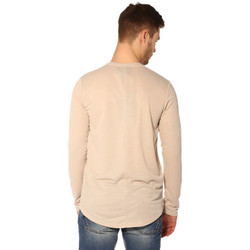 Vêtements Femme T-shirts manches longues Project X T-shirt Homme - LONG SLEEVED TSHIRT 88162219_BG BEIGE Beige