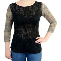 Vêtements Femme T-shirts manches longues Desigual Tee Shirt Sleeve Negro Noir