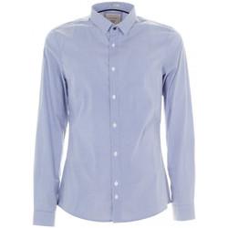 Vêtements Homme Chemises manches longues Guess Chemise LS Allover Bleu Bleu