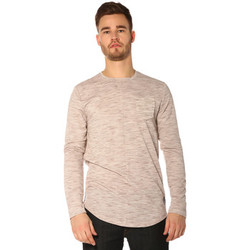 Vêtements Femme T-shirts manches longues Project X T-shirt Homme - LONG SLEEVED TSHIRT 88162219_MR MARRON Marron