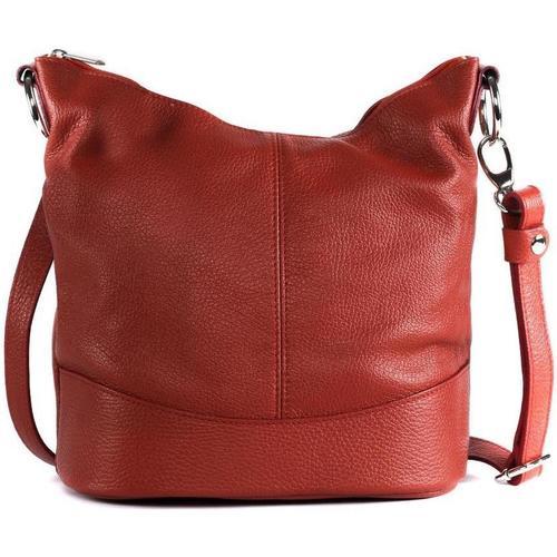 Sacs Femme Sacs porté épaule Oh My Bag Sac à main femme en cuir - Modèle Beaubourg rouge clair ROUGE CLAIR