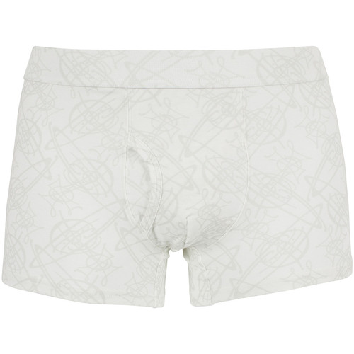 Vêtements Homme Boxers / Caleçons Vivienne Westwood Homme Faint All Over Logo Motif Trunks, Blanc blanc