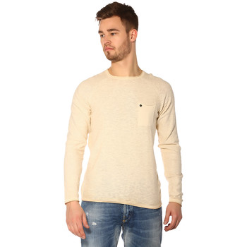 Vêtements Femme Pulls Jack & Jones Pull, Gilet HOMME - BLAKE CREW NECK KNIT_FOG/REG FIT Beige