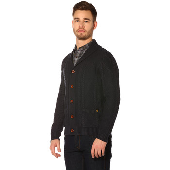 Vêtements Femme Pulls Jack & Jones Pull, Gilet HOMME - JOHN KNIT SHAWL CARDIGAN AUW_TOTAL ECLIPSE/ Bleu