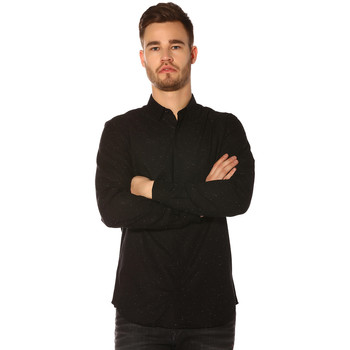 Vêtements Femme Chemises / Chemisiers Jack & Jones Chemise HOMME - RASMUS SHIRT LS PLAIN_BLACK/SLIM FIT Noir