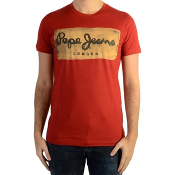 Vêtements Homme T-shirts manches courtes Pepe jeans Tee Shirt  Charing Burnt Red Rouge