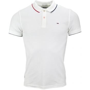 Vêtements Homme Polos manches courtes Tommy Hilfiger Polo Tommy Hilfiger blanc pour homme Blanc