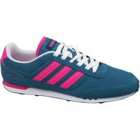 Chaussures Femme Baskets basses adidas Originals City Racer W Rose-Bleu-Blanc