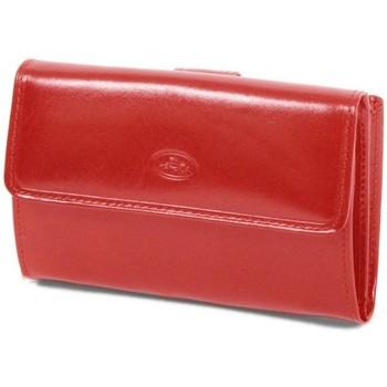 Sacs Femme Portefeuilles Katana Porte-feuille femme en Cuir de Vachette Collet K 353109 Rouge