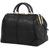 Sacs Femme Sacs porté main Katana Sac diligence cuir de Vachette collet K 1152 Noir