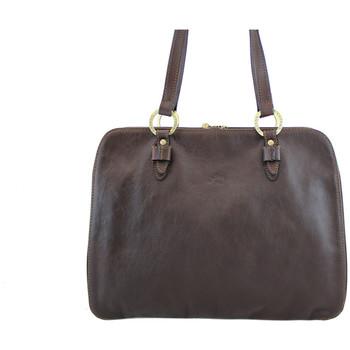 Sacs Femme Cabas / Sacs shopping Katana Sac shopping en cuir de Vachette gras K 32596 Chocolat