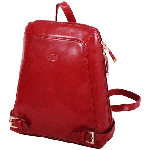 Sacs Femme Sacs à dos Katana Sac a dos en cuir de Vachette collet K 82358 Rouge