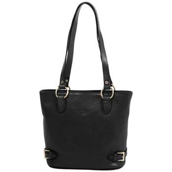 Sacs Femme Cabas / Sacs shopping Katana Sac shopping en cuir de Vachette collet K 82150 Noir