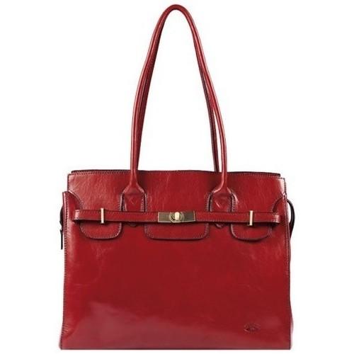 Sacs Femme Cabas / Sacs shopping Katana Sac shopping en cuir de Vachette collet K 82529 Rouge