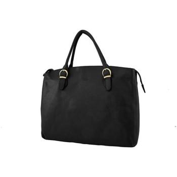 Sacs Femme Cabas / Sacs shopping Katana Sac shopping en cuir de Vachette collet K 82534 Noir