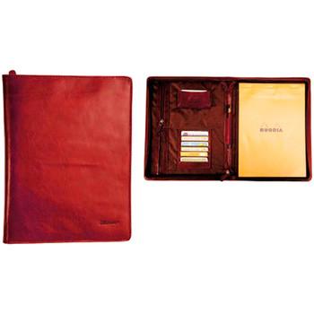Sacs Homme Porte-Documents / Serviettes Katana Conferencier cuir de Vachette pleine fleur K 6800 Rouge