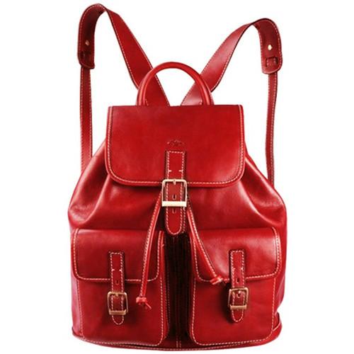 Sacs Femme Sacs à dos Katana Sac a dos Cuir de Vachette K 32543 Rouge