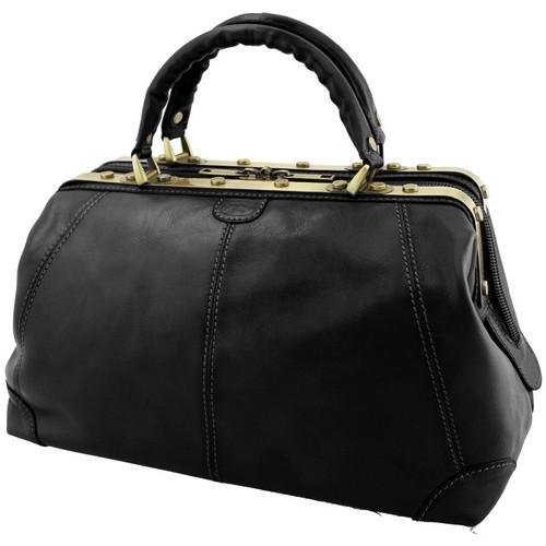 Sacs Femme Sacs porté main Katana Sac de voyage Diligence Cuir de Vachette Collet K 1150 Noir