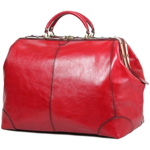 Sacs Femme Sacs de voyage Katana Sac de voyage Diligence Cuir de Vachette Collet K 1153 Rouge