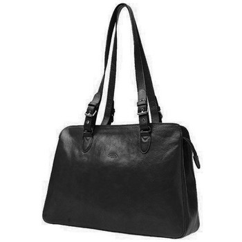 Sacs Femme Cabas / Sacs shopping Katana Sac shopping en cuir de Vachette collet K 82365 Noir