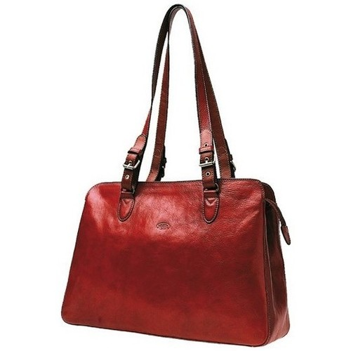 Sacs Femme Cabas / Sacs shopping Katana Sac shopping en cuir de Vachette collet K 82365 Rouge