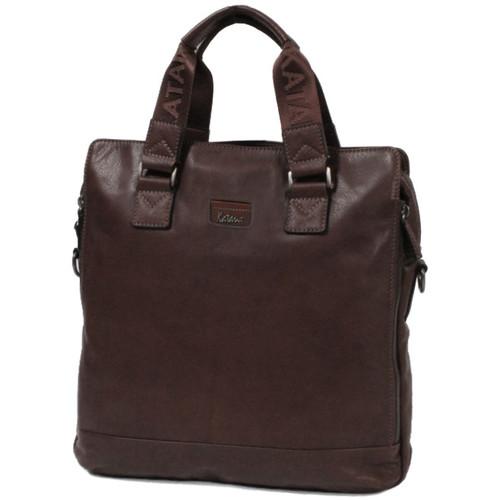 Sacs Homme Sacs porté main Katana Sacoche cuir de Vachette sauvage K 81668 Chocolat