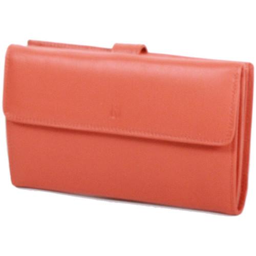 Sacs Femme Portefeuilles Gerard Henon Compagnon tout-en-un cuir de Vachette souple GH 33522 Orange