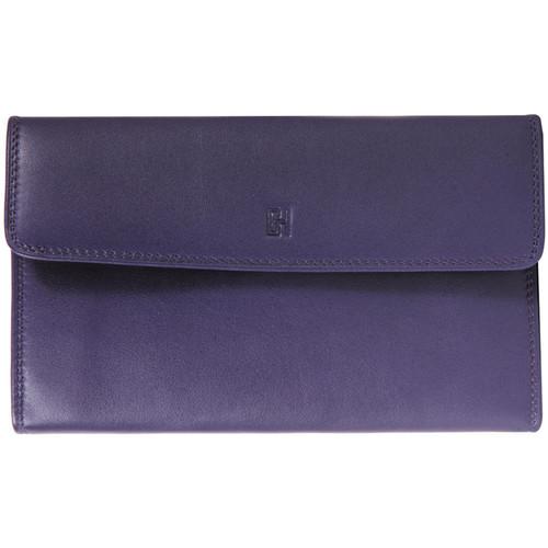 Sacs Femme Portefeuilles Gerard Henon Compagnon tout-en-un cuir de Vachette souple GH 33522 Violet