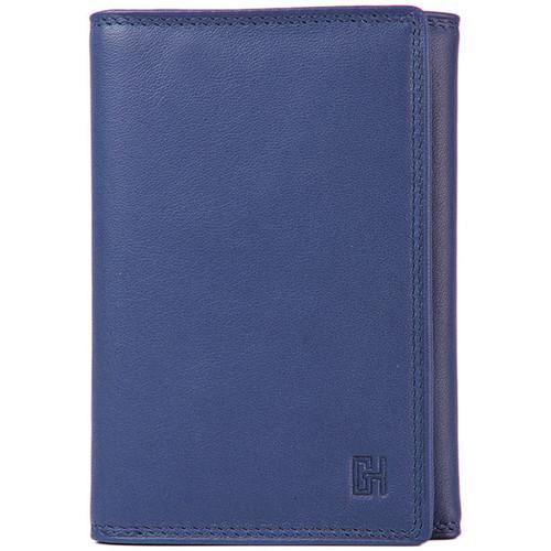 Sacs Femme Portefeuilles Gerard Henon Porte-feuille Cuir de Vachette souple lisse GH 33518 Bleu