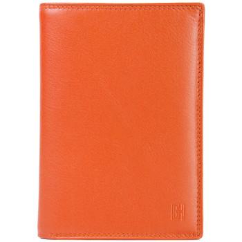 Sacs Femme Portefeuilles Gerard Henon Porte-feuille Cuir de Vachette souple lisse GH 33518 Orange