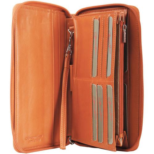 Gerard Henon Compagnon tout-en-un cuir de Vachette souple GH 33519 Orange - Sacs Portefeuilles Femme 89,00 €.
