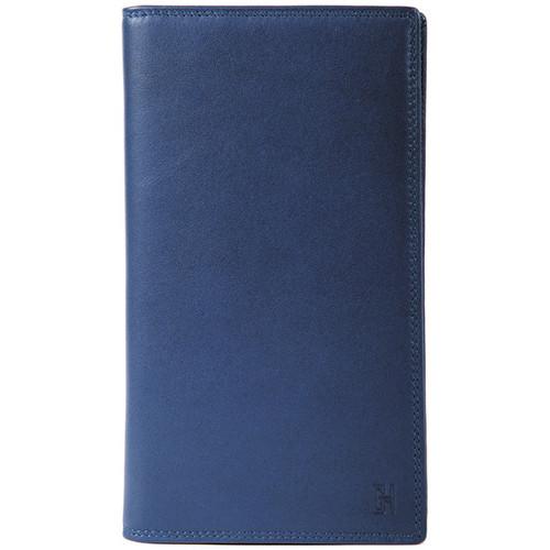 Sacs Femme Portefeuilles Gerard Henon Compagnon tout-en-un cuir de Vachette souple GH 33521 Bleu