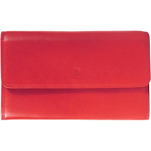 Sacs Femme Portefeuilles Gerard Henon Compagnon tout-en-un cuir de Vachette souple GH 33523 Rouge