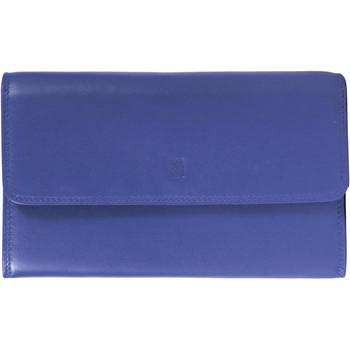 Sacs Femme Portefeuilles Gerard Henon Compagnon tout-en-un cuir de Vachette souple GH 33523 Bleu