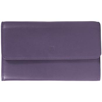 Sacs Femme Portefeuilles Gerard Henon Compagnon tout-en-un cuir de Vachette souple GH 33523 Violet