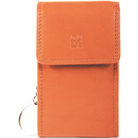 Sacs Femme Porte-clés Gerard Henon Porte-cles Softline Cuir de Vachette Lisse GH 33571 Orange