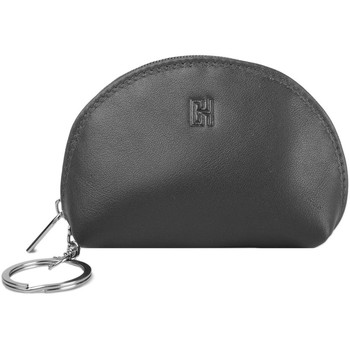 Accessoires textile Femme Porte-clés Gerard Henon Porte-cles Softline Cuir de Vachette Lisse GH 33581 Noir