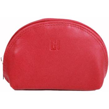 Accessoires textile Femme Porte-clés Gerard Henon Porte-cles Softline Cuir de Vachette Lisse GH 33581 Rouge