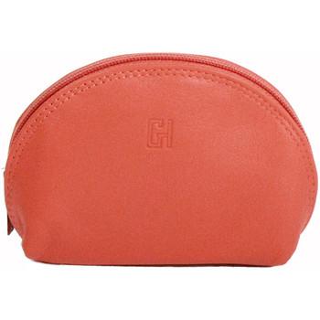 Accessoires textile Femme Porte-clés Gerard Henon Porte-cles Softline Cuir de Vachette Lisse GH 33581 Orange