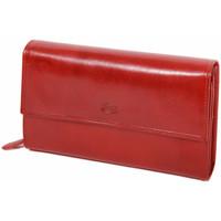 Sacs Femme Portefeuilles Katana Compagnon / Porte-chequier Cuir De Vachette Collet K353050 Rouge