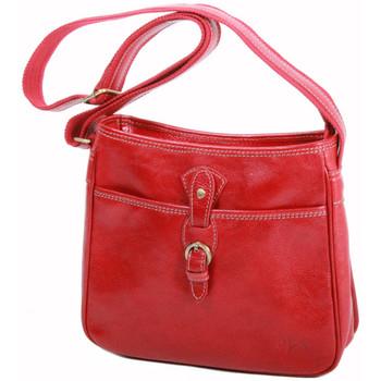 Sacs Femme Besaces Katana Besace en cuir de Vachette K 32541 Rouge