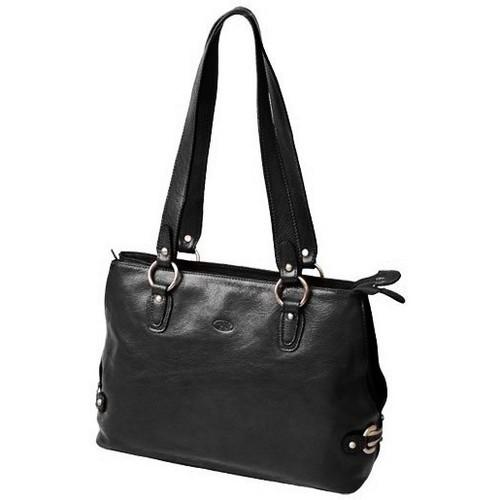 Sacs Femme Cabas / Sacs shopping Katana Sac shopping en cuir de Vachette collet K 82617 Noir
